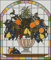 Stained Glass Fruit Bowl Pattern