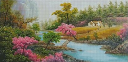 A Tranquil Setting - Large
