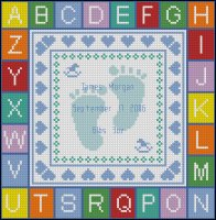 Boy Birth Sampler