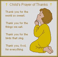 Child's Prayer of Thanks