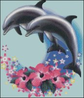 Dolphins and Flowers