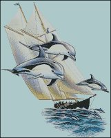 Dolphins and Ship