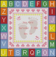 Girl Birth Sampler