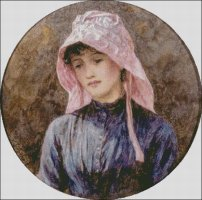 Girl in a Pink Bonnet - Large