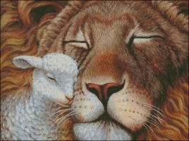 Lion and Lamb - Large