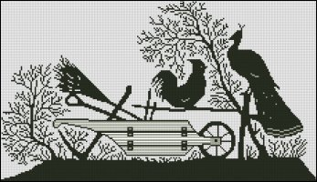 Rooster, Peacock and Plough