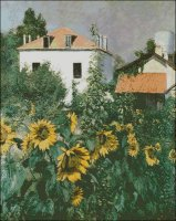 Sunflowers, Garden at Petit Gennevilliers - Large