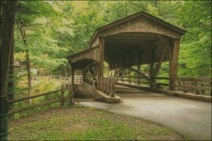 Wooden Covered Bridge - Large