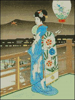 Bijin at River Bank - Click Image to Close
