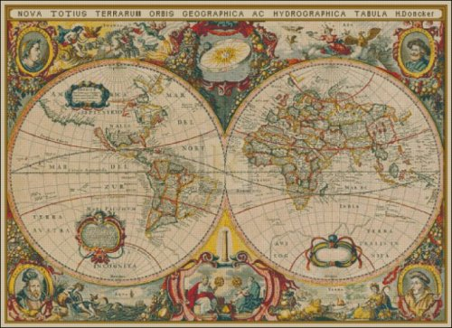 Map of the World in 1630 - Large - Click Image to Close