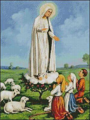 Our Lady of Fatima and Shepherd Children - Click Image to Close
